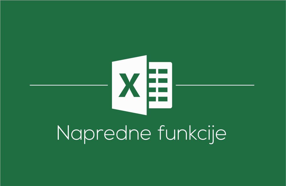 Delavnica Microsoft Office Excel napredne funkcije