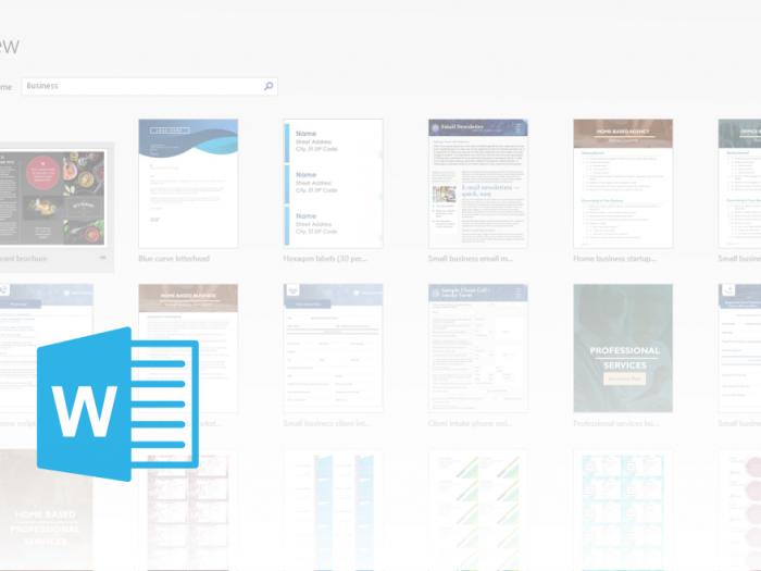 Microsoft Office Word - Predloge - članek